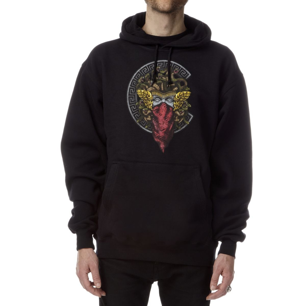 crooks and castles medusa pullover hoodie black