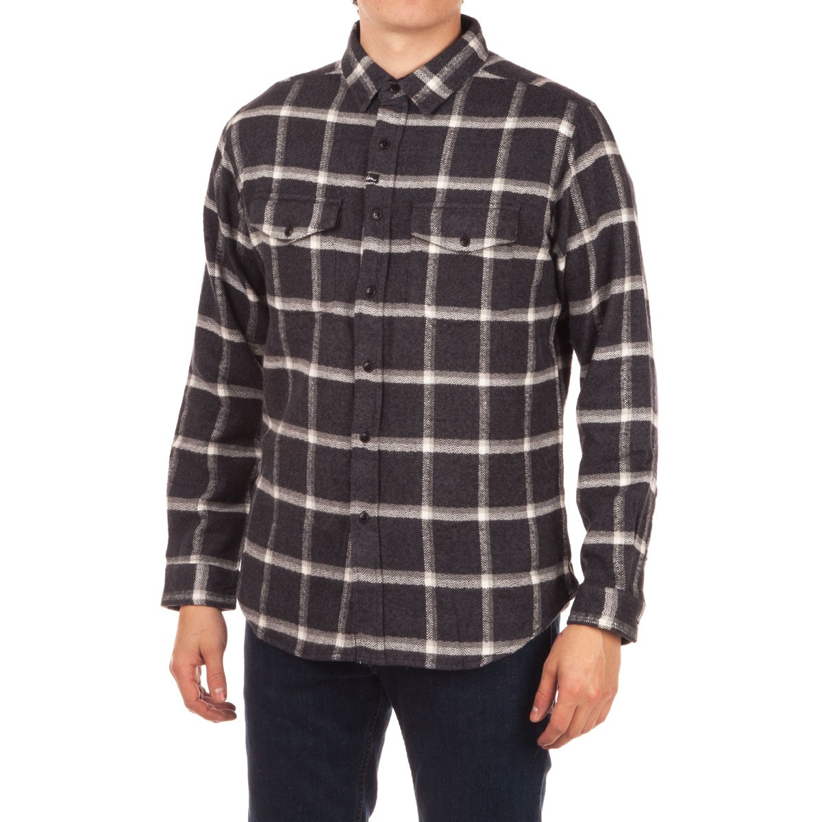 Imperial Motion Morton Long Sleeve Flannel Shirt - Coal