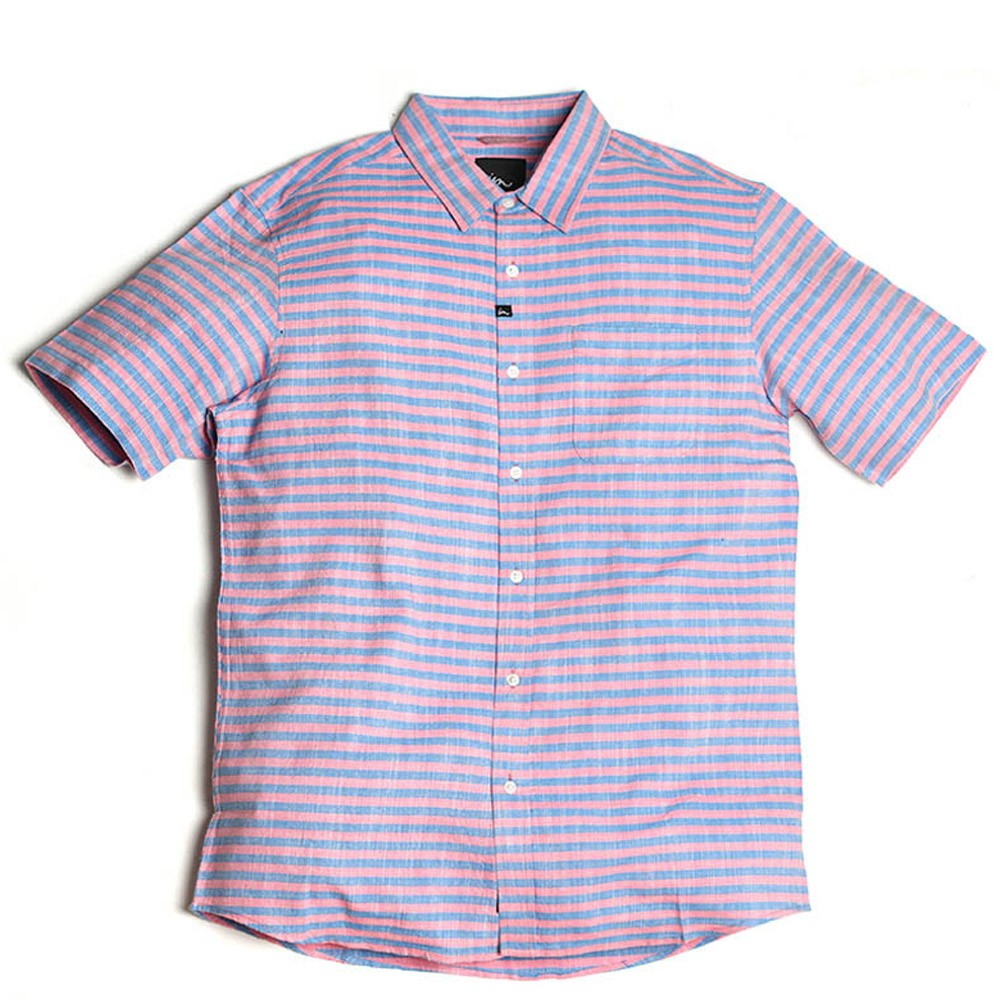 Imperial Motion Racket Short Sleeve Woven Shirt - Blue/Red