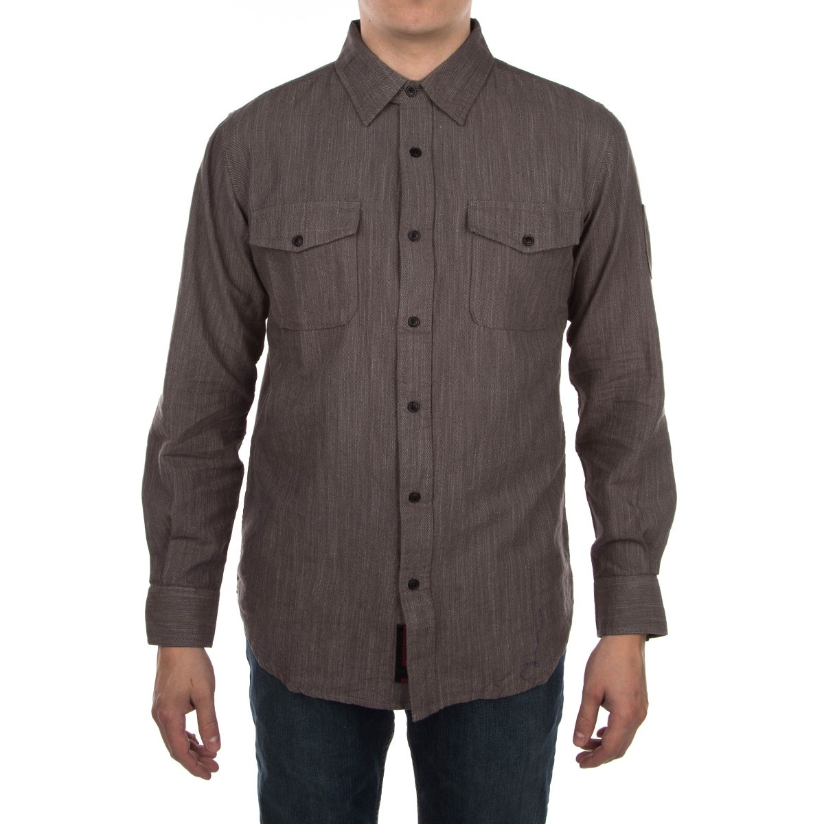 Struggle Long Sleeve Shirt - Dark Grey Chambray