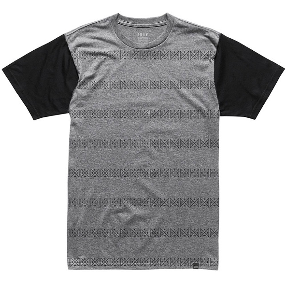 KR3W Triad Premium Short Sleeve T-Shirt - Grey Heather