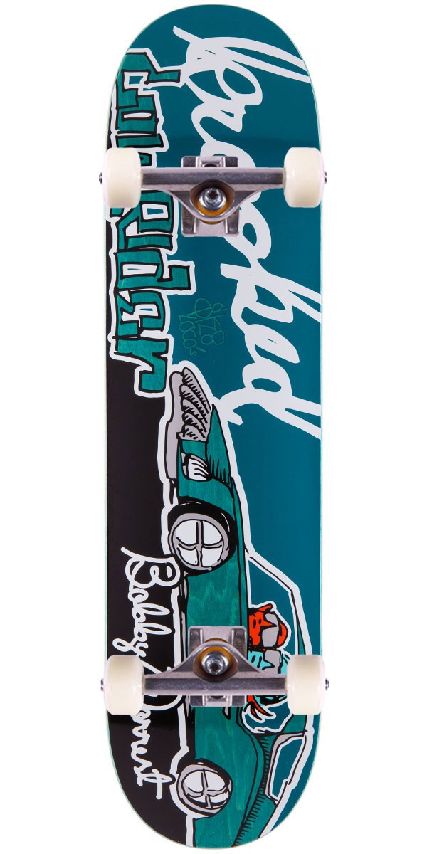 Krooked Bobby Worrest Sk8Loco Lowrider Skateboard Complete - Teal Stain - 8.06""