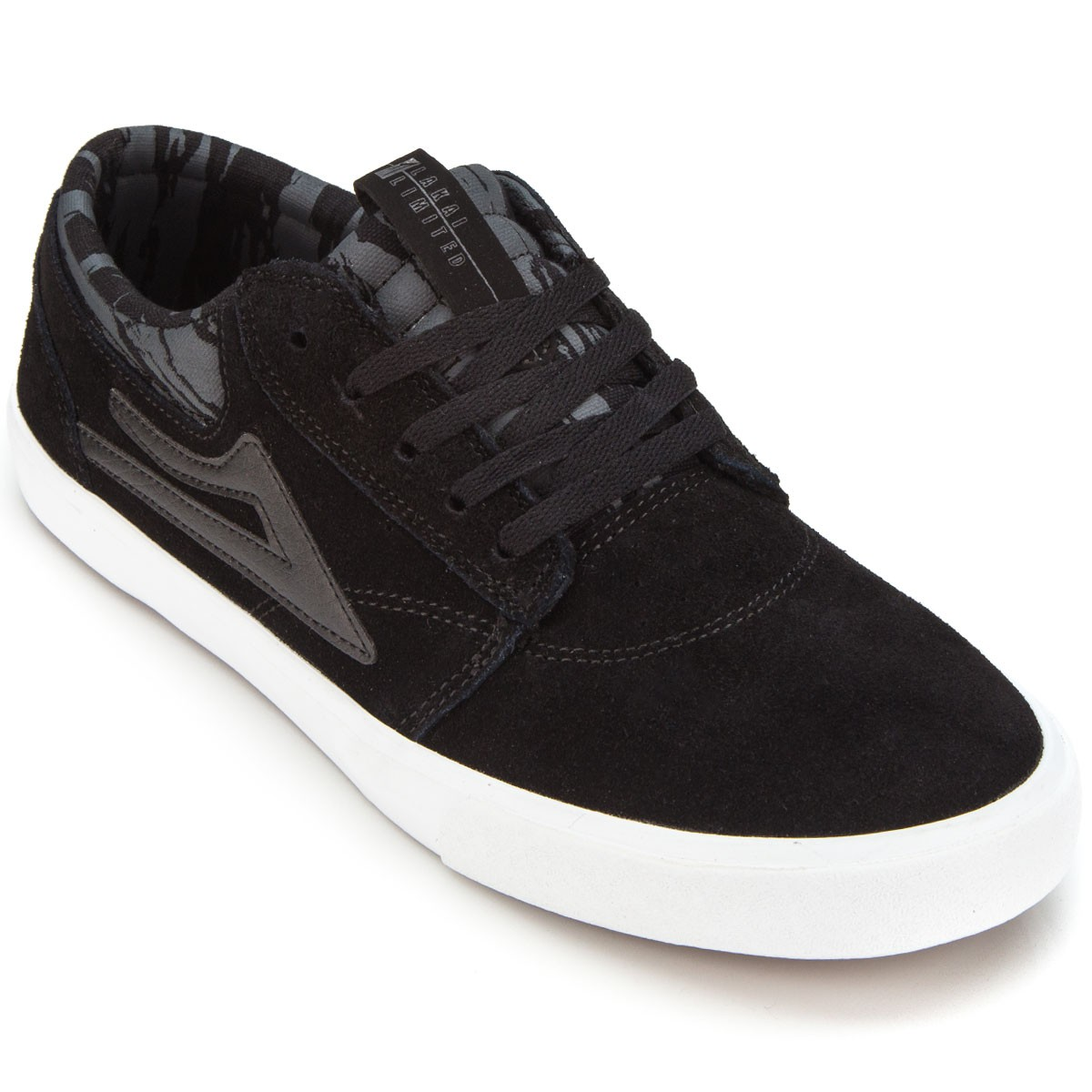 Lakai Griffin Youth Shoes - Black/Grey - 6.0