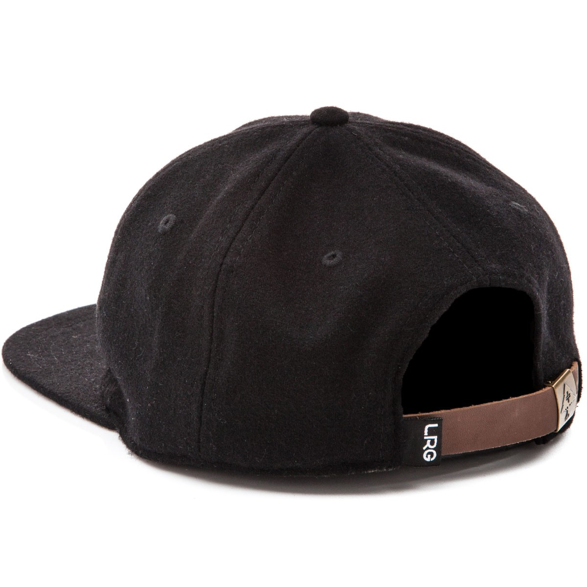 LRG Blank Check Strap Back Hat - Black 07da168a727