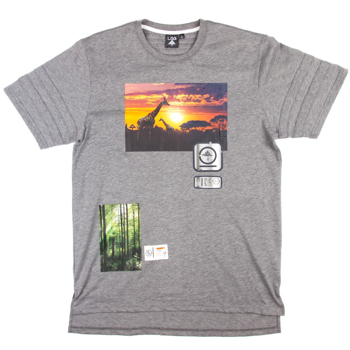 LRG Elevated Vision Long T-Shirt - Charcoal Heather