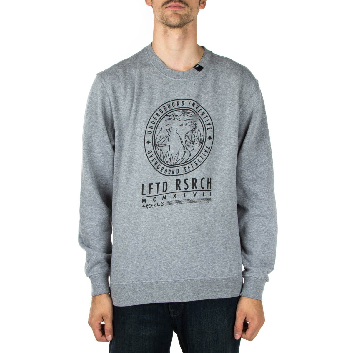 LRG Lion Stamp Crewneck Sweatshirt - Heather Grey