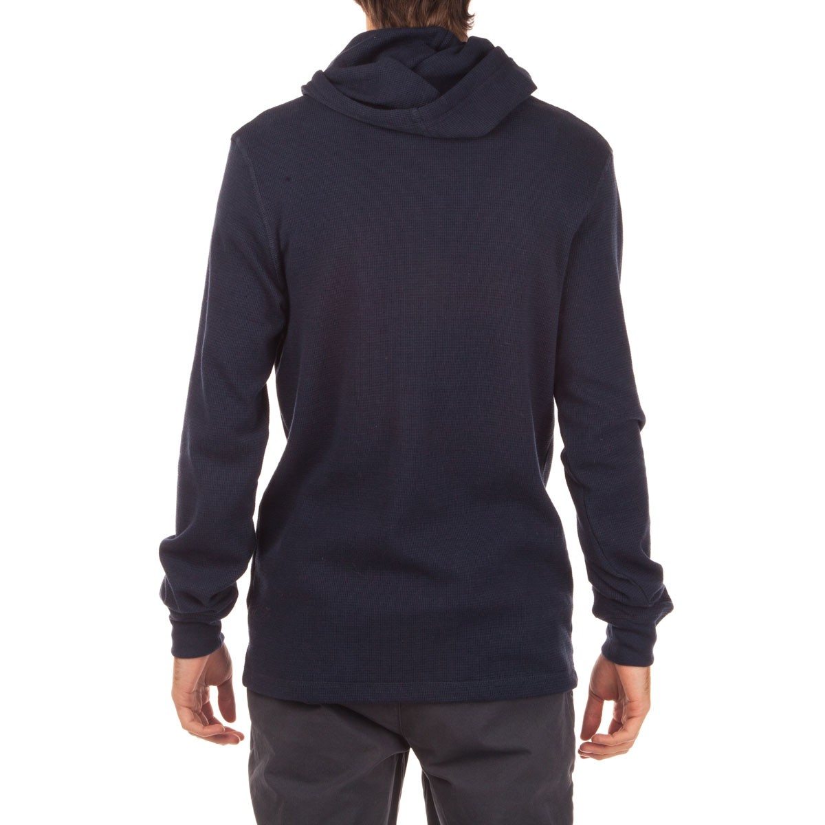 Long Sleeve Hooded Thermal Shirt - Navy