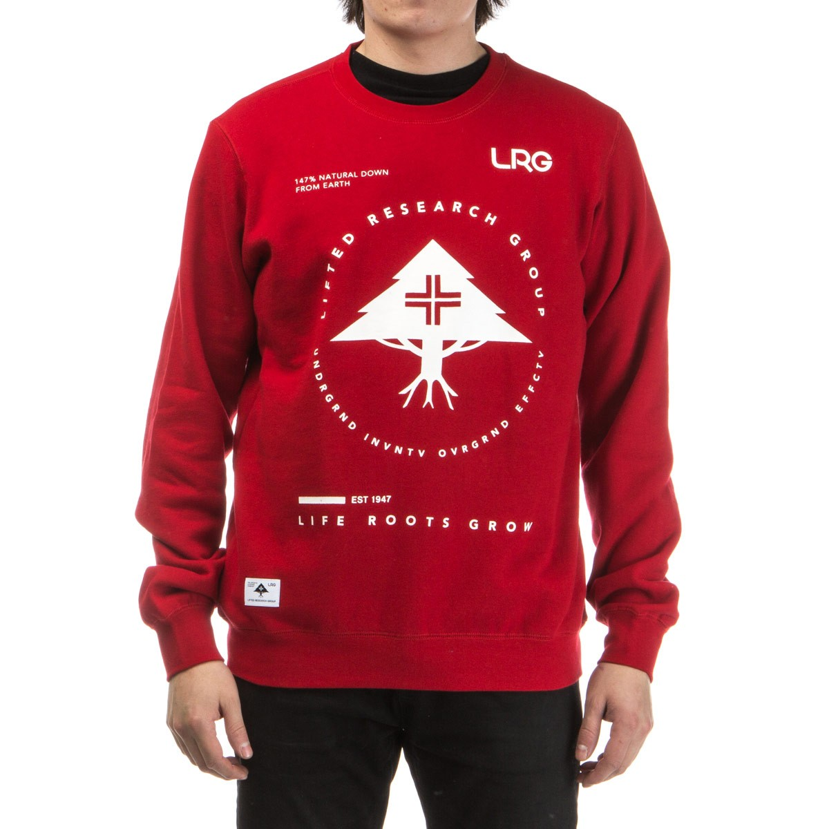 LRG Research Collection Crewneck Sweatshirt - Red