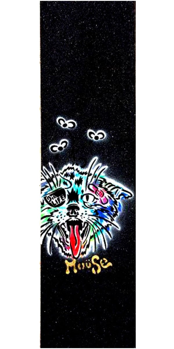 Mouse Hand-Sprayed Mob Skateboard Grip Tape - Alley Kat