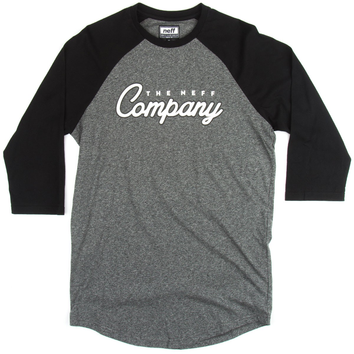 Neff company raglan t shirt charcoal heather for T shirt for company