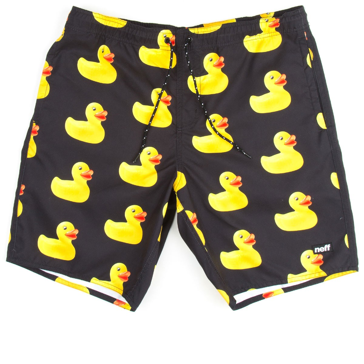Neff Rubber Ducky Hot Tub Shorts - Black