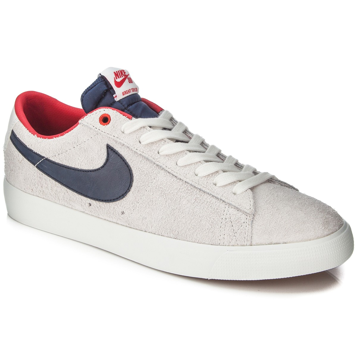 nike blazer white low