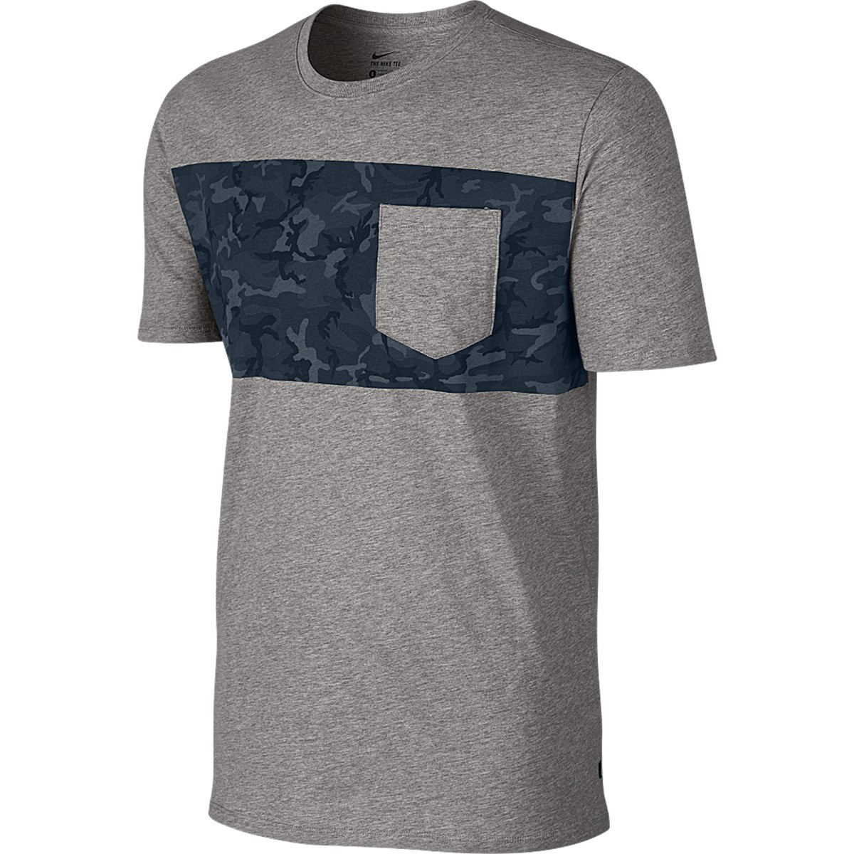 Nike SB Camo Pocket T-Shirt - Dark Grey Heather/Armory Navy