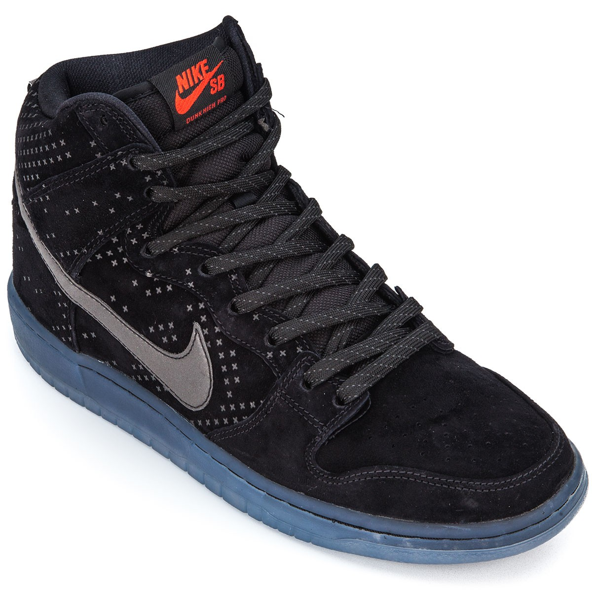 big sale a6820 29f00 Nike Dunk High Premium Flash SB Shoes - Black Clear Black - 10.0