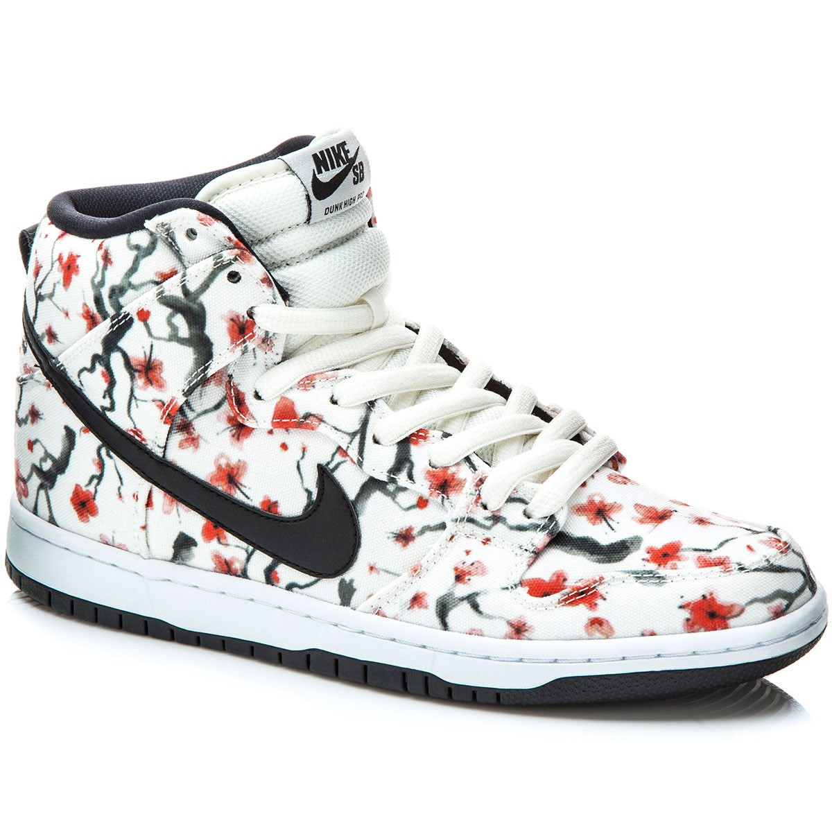 Nike Dunk High Pro SB Shoes - Sail/Crimson/White/Black - 7.0