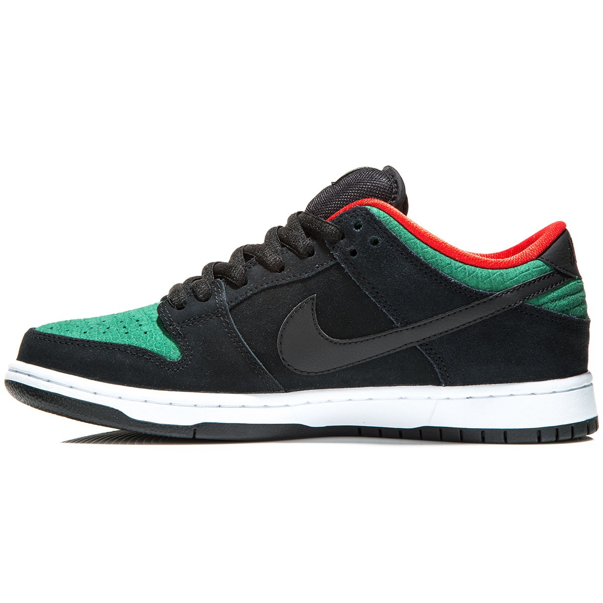 sports shoes 8b37f 79d0d Nike SB Dunk Low Pro Shoes - BlackGorge GreenRed - 6.0