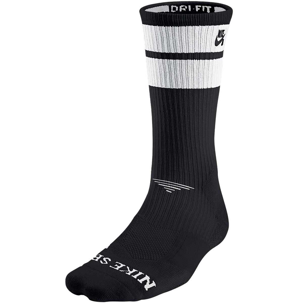 nike elite sb skate crew socks black white white black. Black Bedroom Furniture Sets. Home Design Ideas