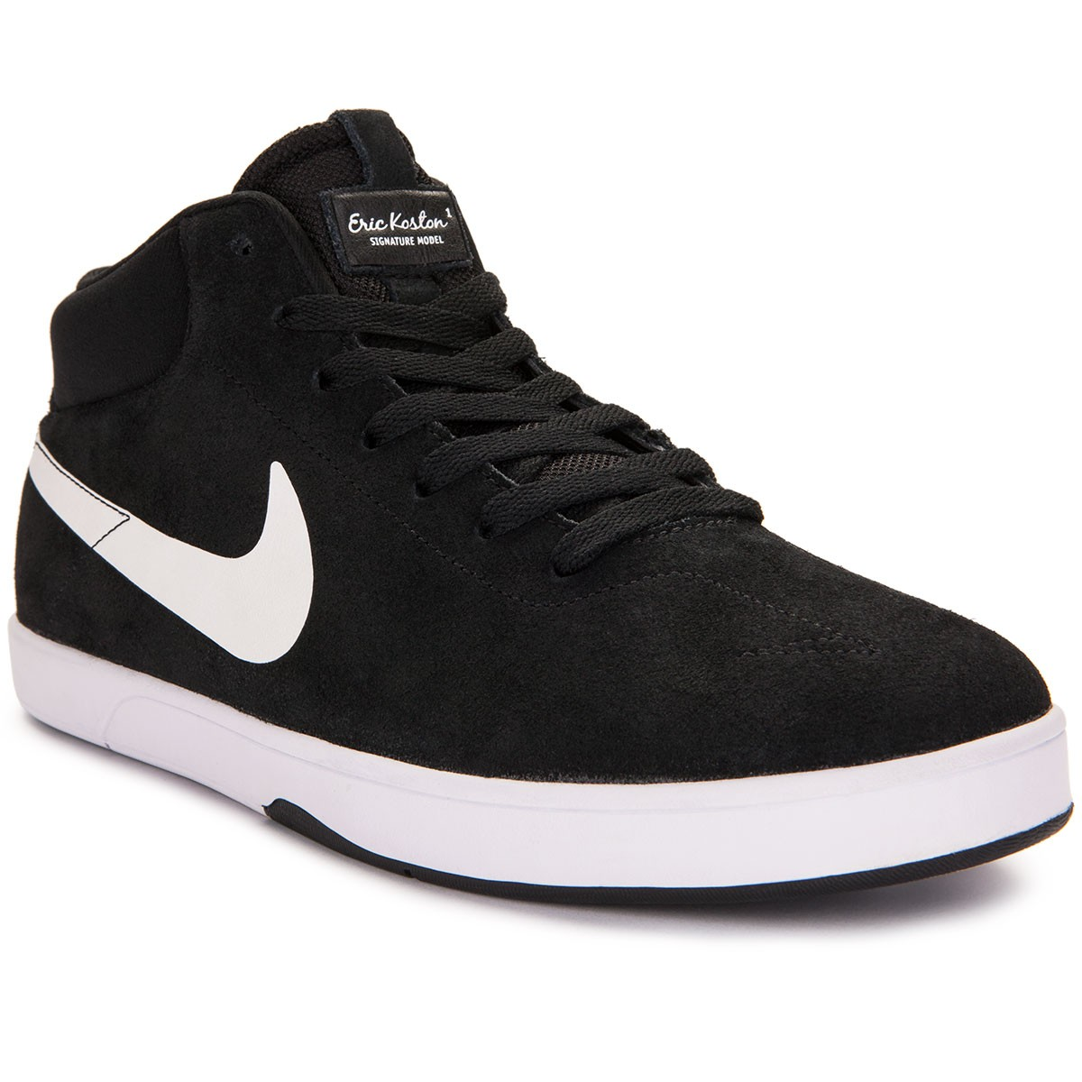 Nike SB Eric Koston Mid Shoes - Black/White/Black - 10.0