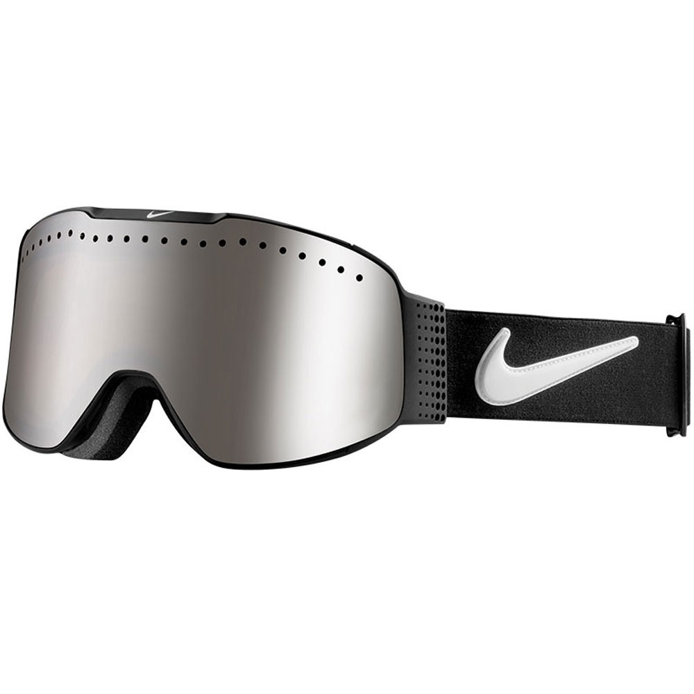 Nike Fade Snowboard Goggles - Black/Black with Silver Ion