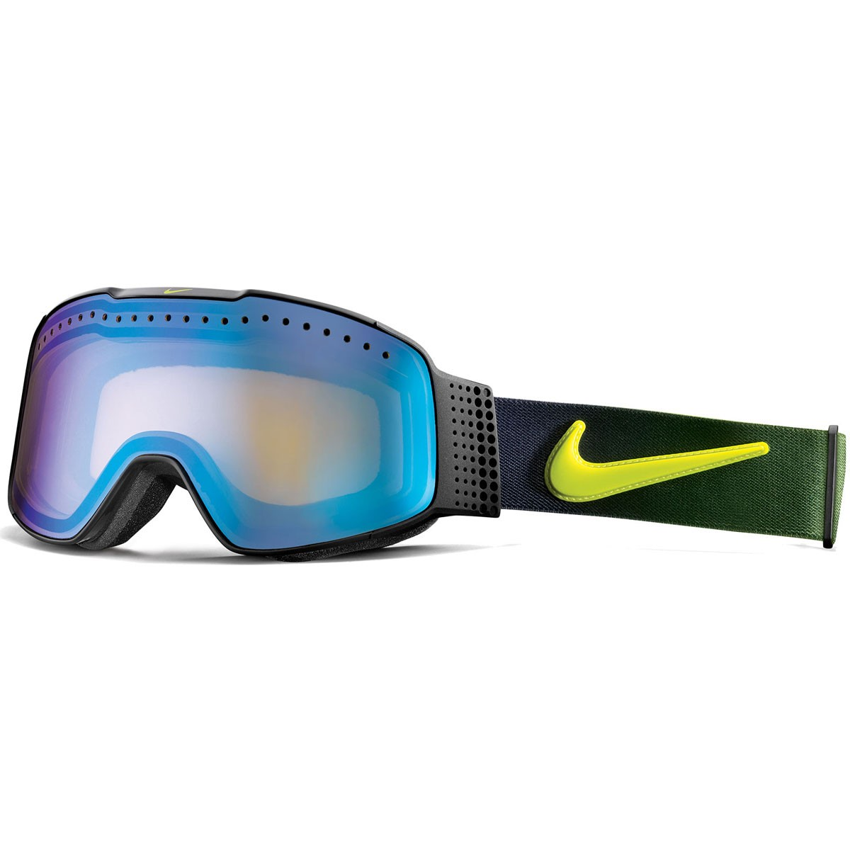 Nike Fade Snowboard Goggles - Black/Cyber Fade with Yellow Blue Ion