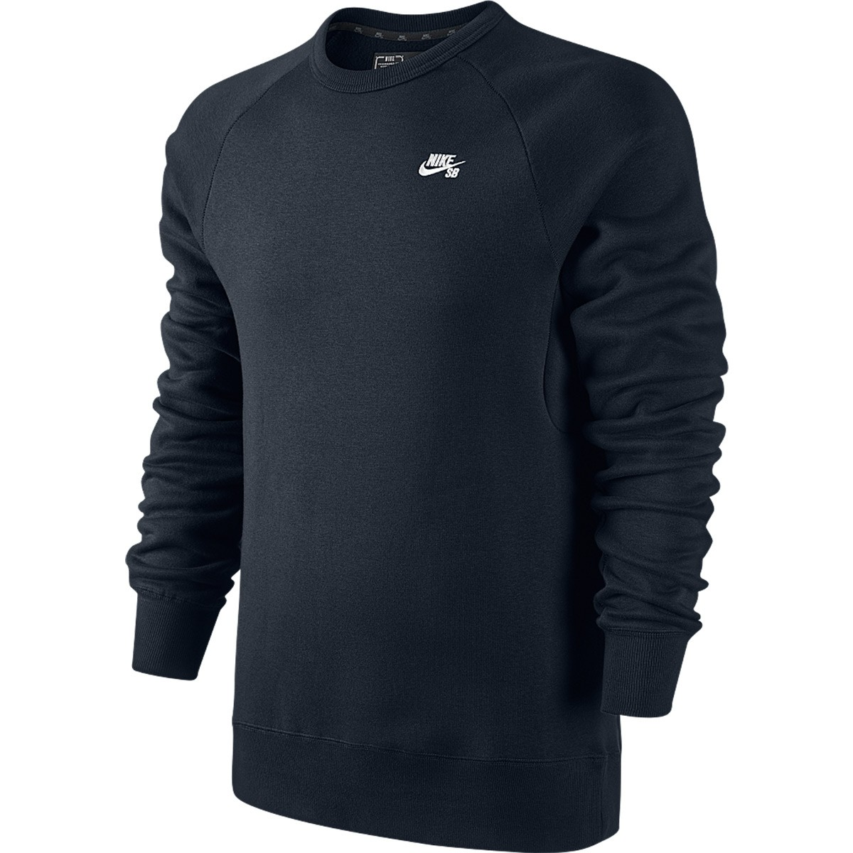 Nike Sb Icon Crew Sweatshirt Dark Obsidian White