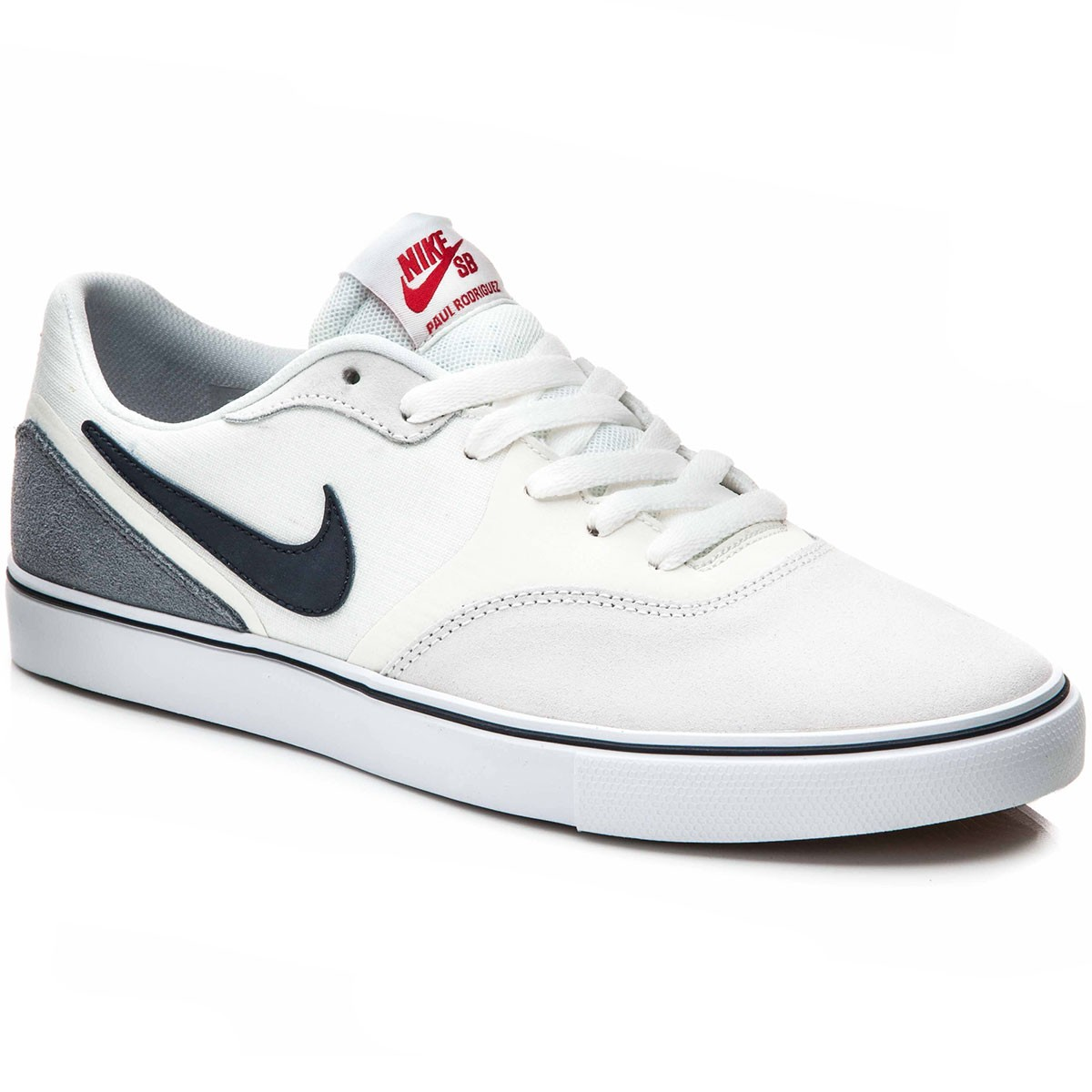 Nike Paul Rodriguez 9 VR Shoes - White/Gum/Red/Dark Obsidian - 10.0