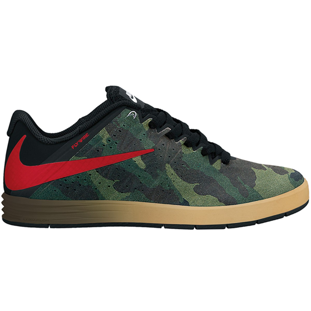 lowest price f32fa c575c Nike Paul Rodriguez CTD SB Shoes - Dark DuneGym RedBlack - 10.0