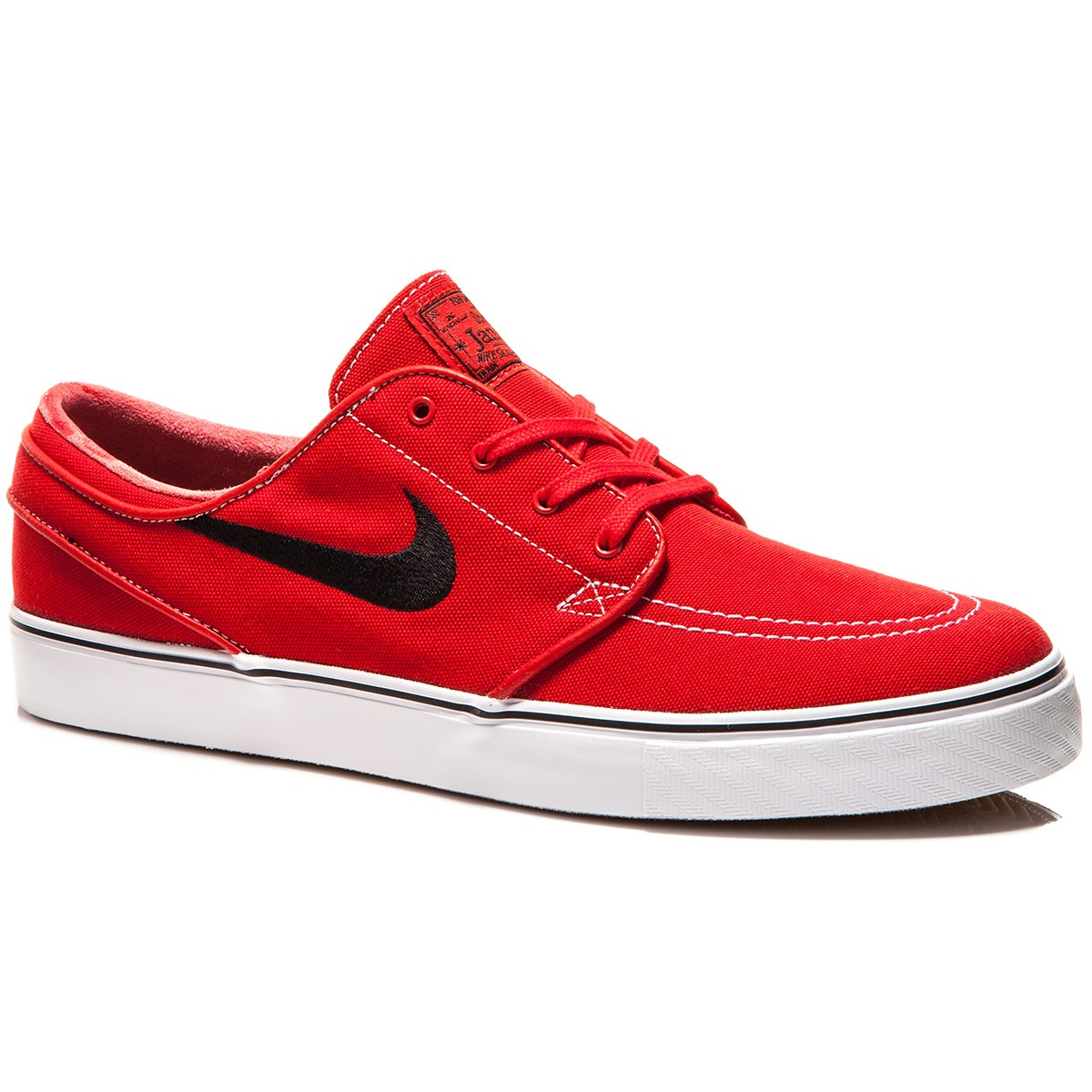 Nike Zoom Stefan Janoski Canvas Shoes - Red/Gum/Brown/White/Black - 8.0