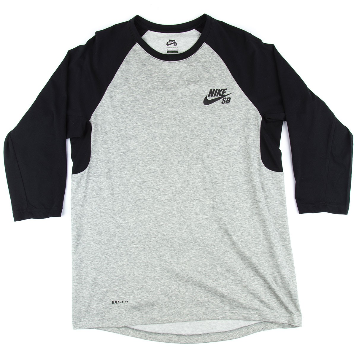 Nike Sb Dri Fit 3 4 Sleeve Crew T Shirt Dark Heather