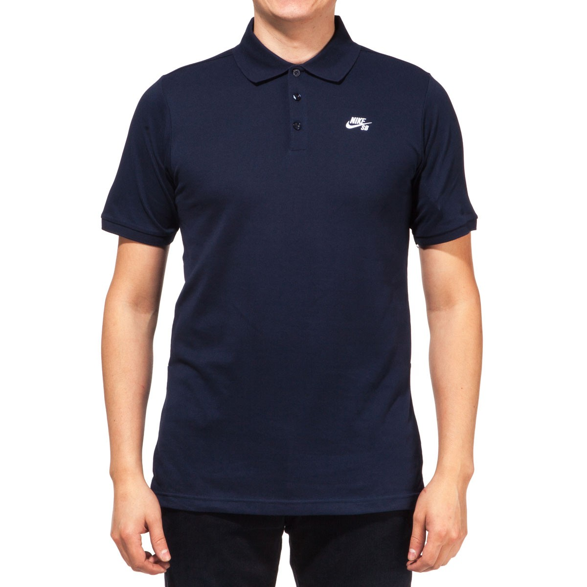Nike SB Dri-FIT Pique Polo Shirt - Obsidian/White
