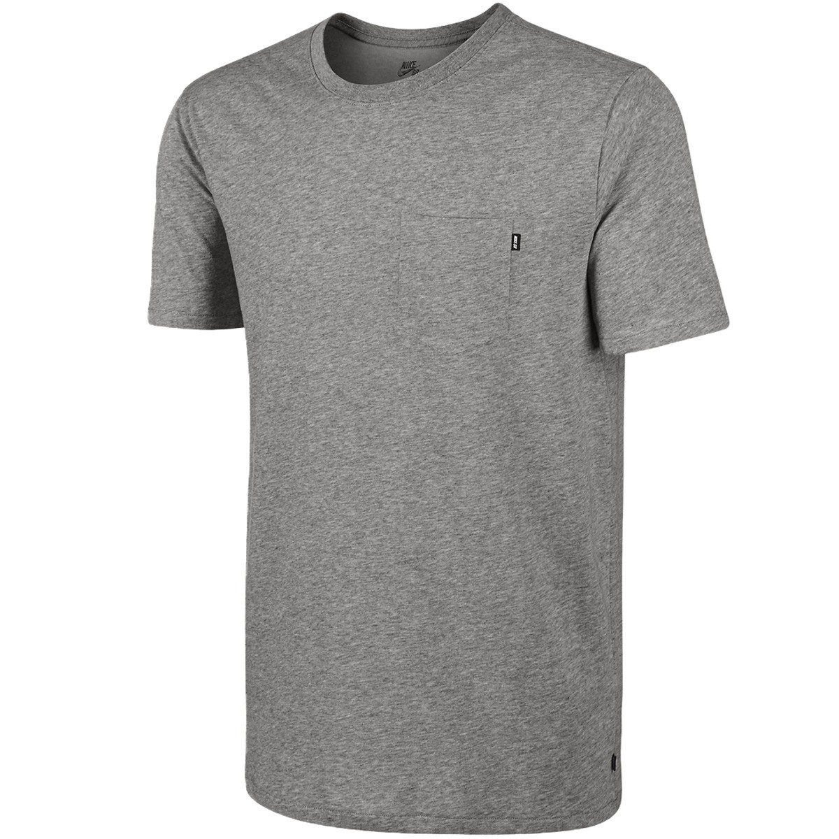 nike sb dri fit solid pocket t shirt dark grey heather