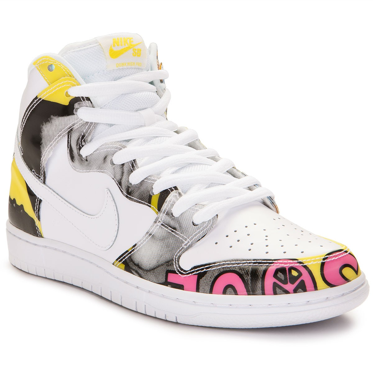 cheap for discount 53558 c3296 Nike SB Dunk High Premium De La Soul Shoes - White Firefly - 15.0