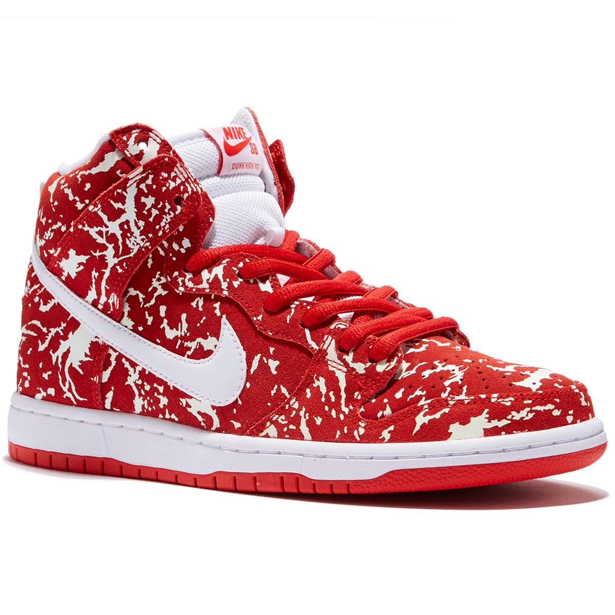 Nike Dunk High Premium SB Shoes - Red/Red/White - 8.0