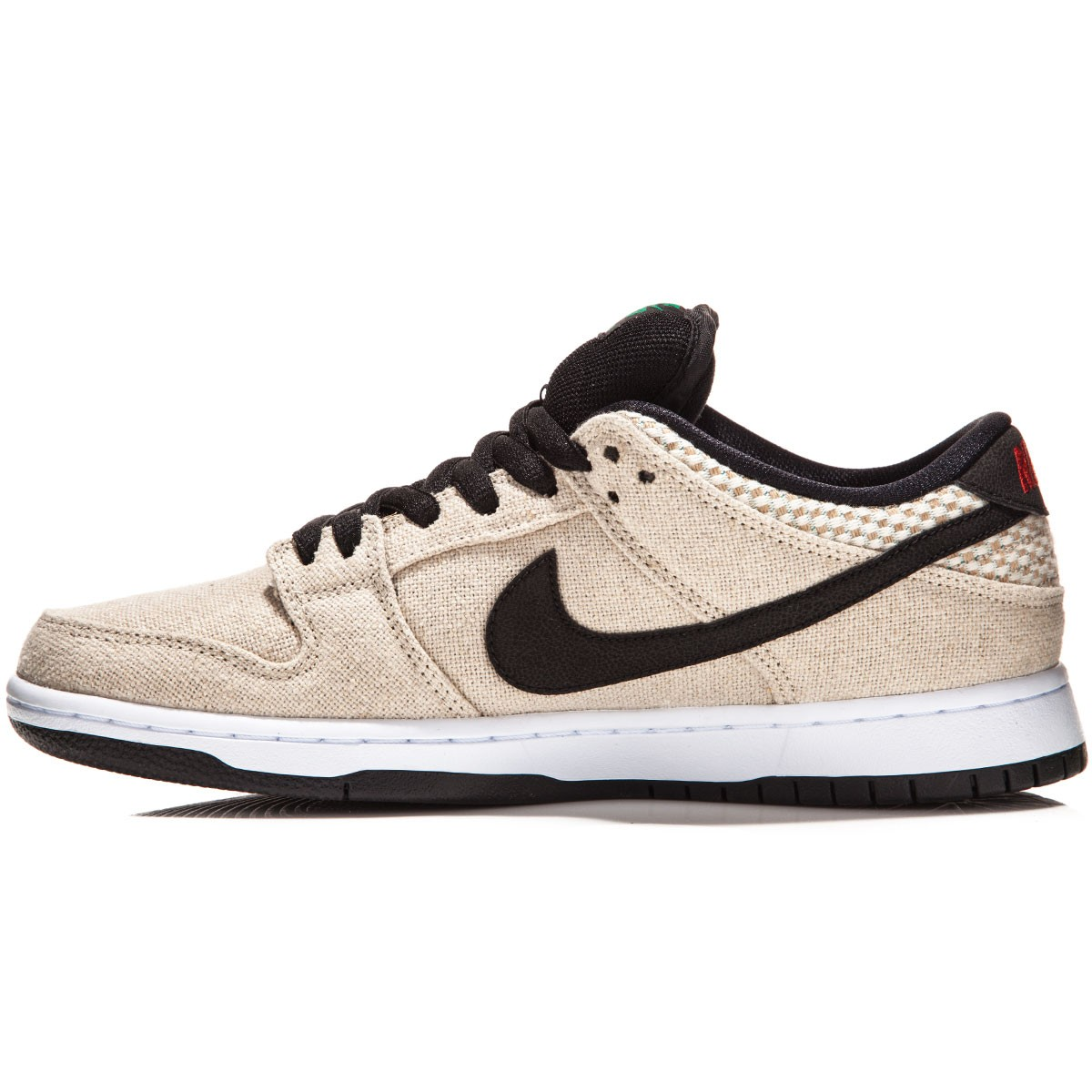 9ae5f4332067f ... discount nike sb dunk low premium raw canvas shoes bamboo white red  black fc3fd 373a1