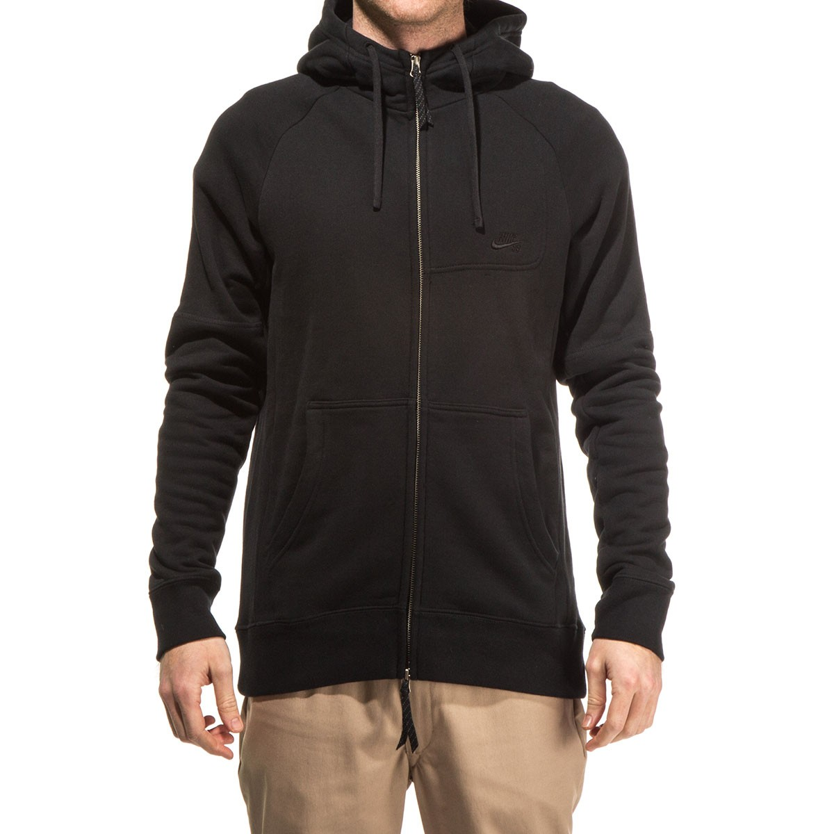 Nike SB Everett Graphic Full Zip Hoodie - Black/Black/White
