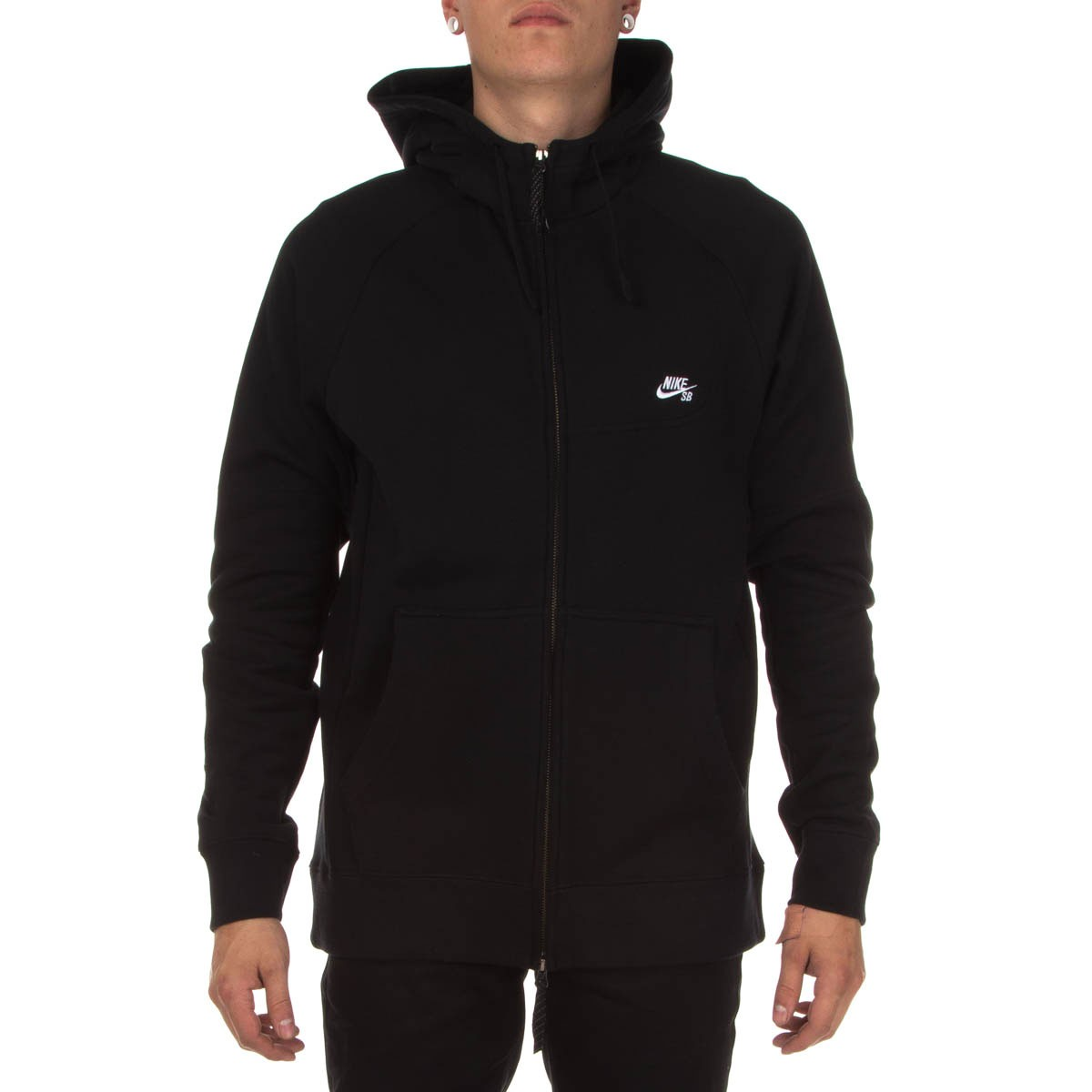 Nike SB Everett Graphic Zip Hoodie BlackWhite