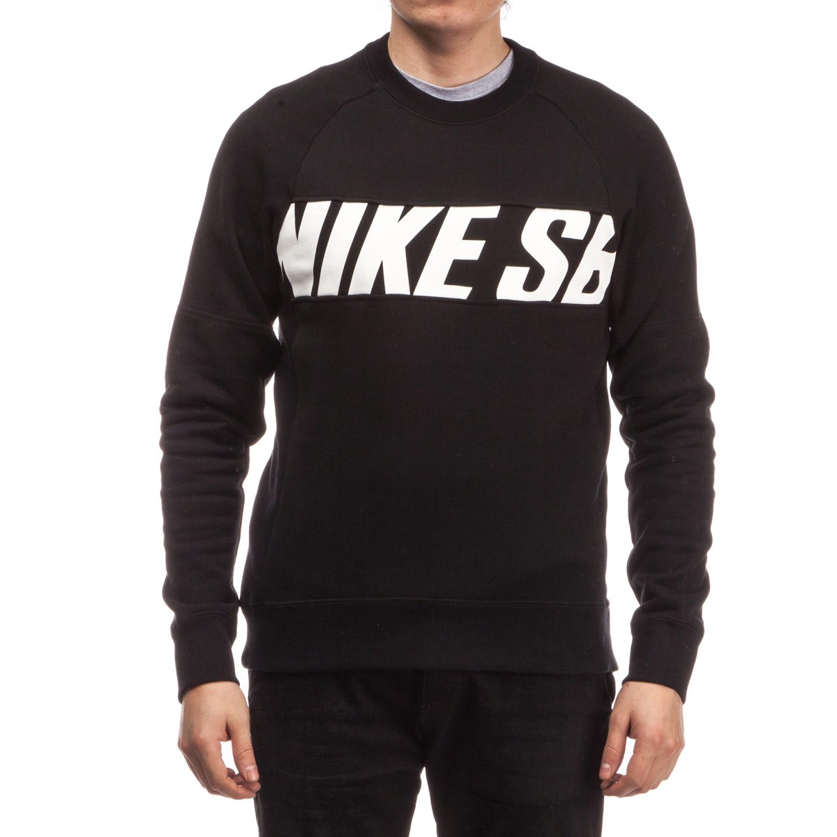 Nike Sb Everett Motion Crew Sweatshirt Black White