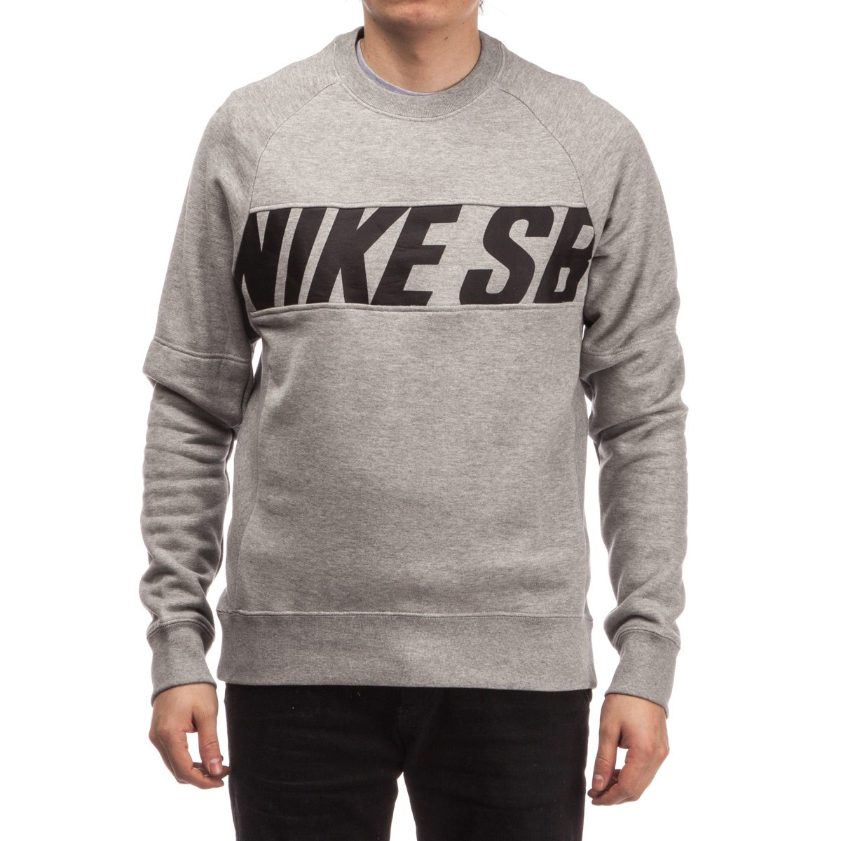 Nike Sb Everett Motion Crew Sweatshirt Dark Grey Heather Black