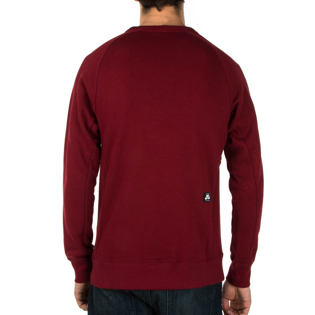 Nike Sb Icon Crew Fleece Sweatshirt Red Black
