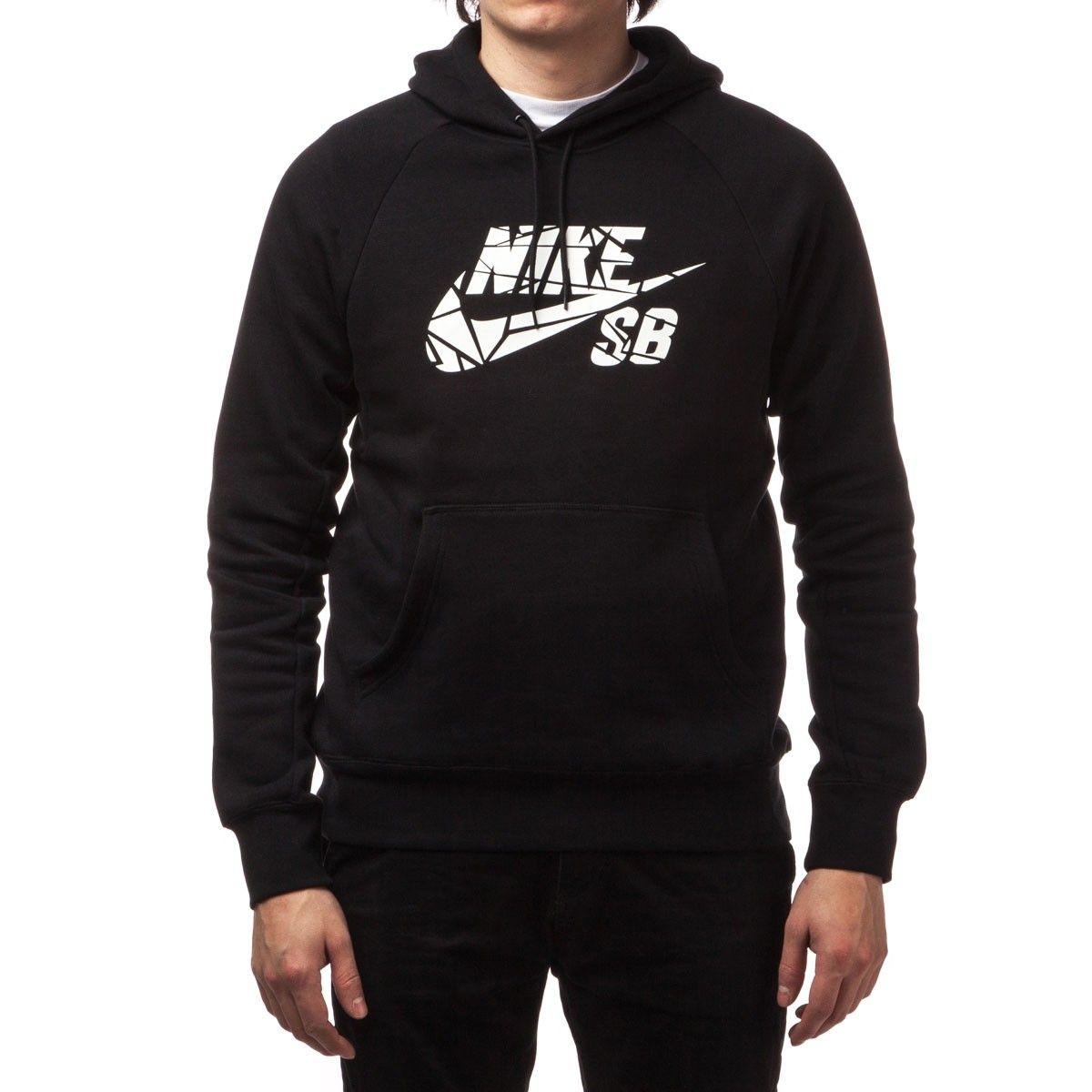 nike sb icon griptape pullover hoodie black white. Black Bedroom Furniture Sets. Home Design Ideas