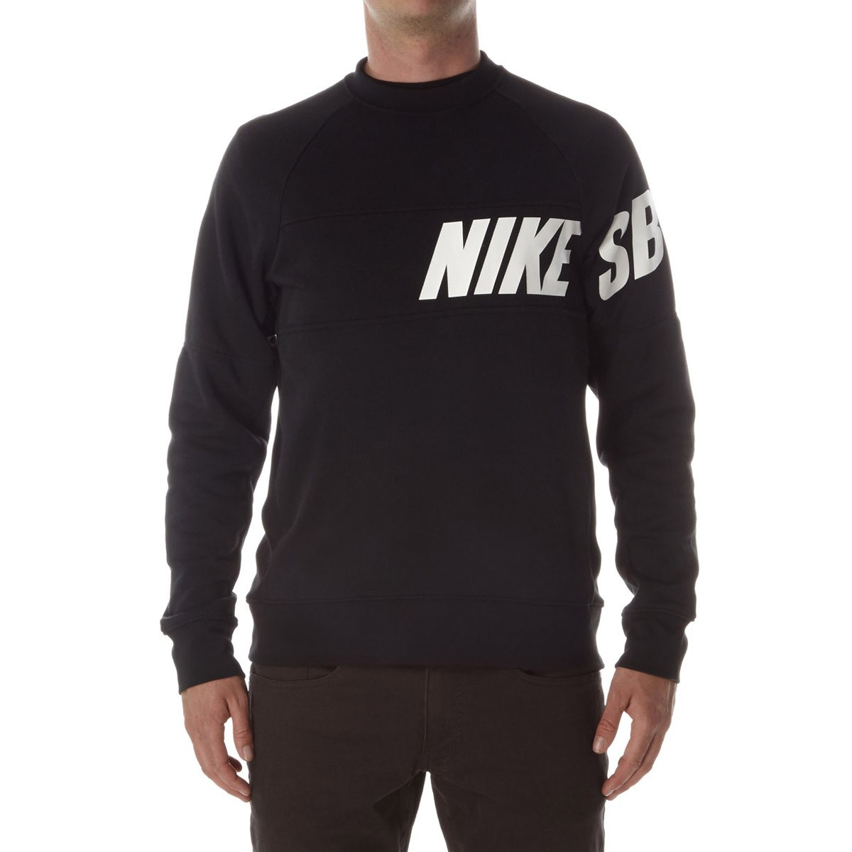 Nike Sb Lightweight Everett Dri Fit Crew Sweatshirt Black White
