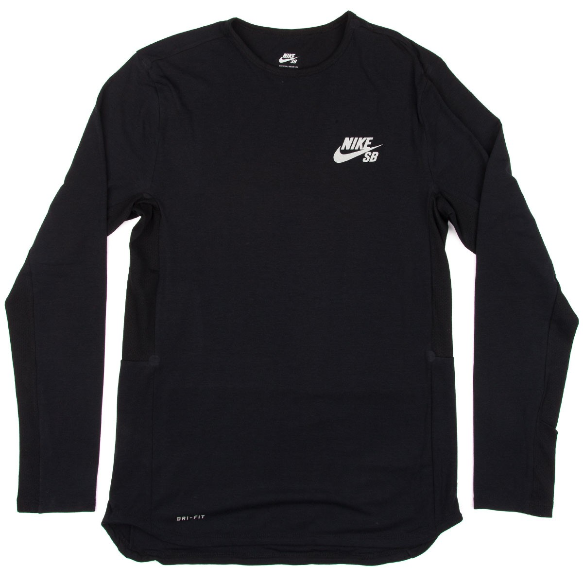 SB Skyline Dri-Fit Cool Long Sleeve Crew T-Shirt - Black ...