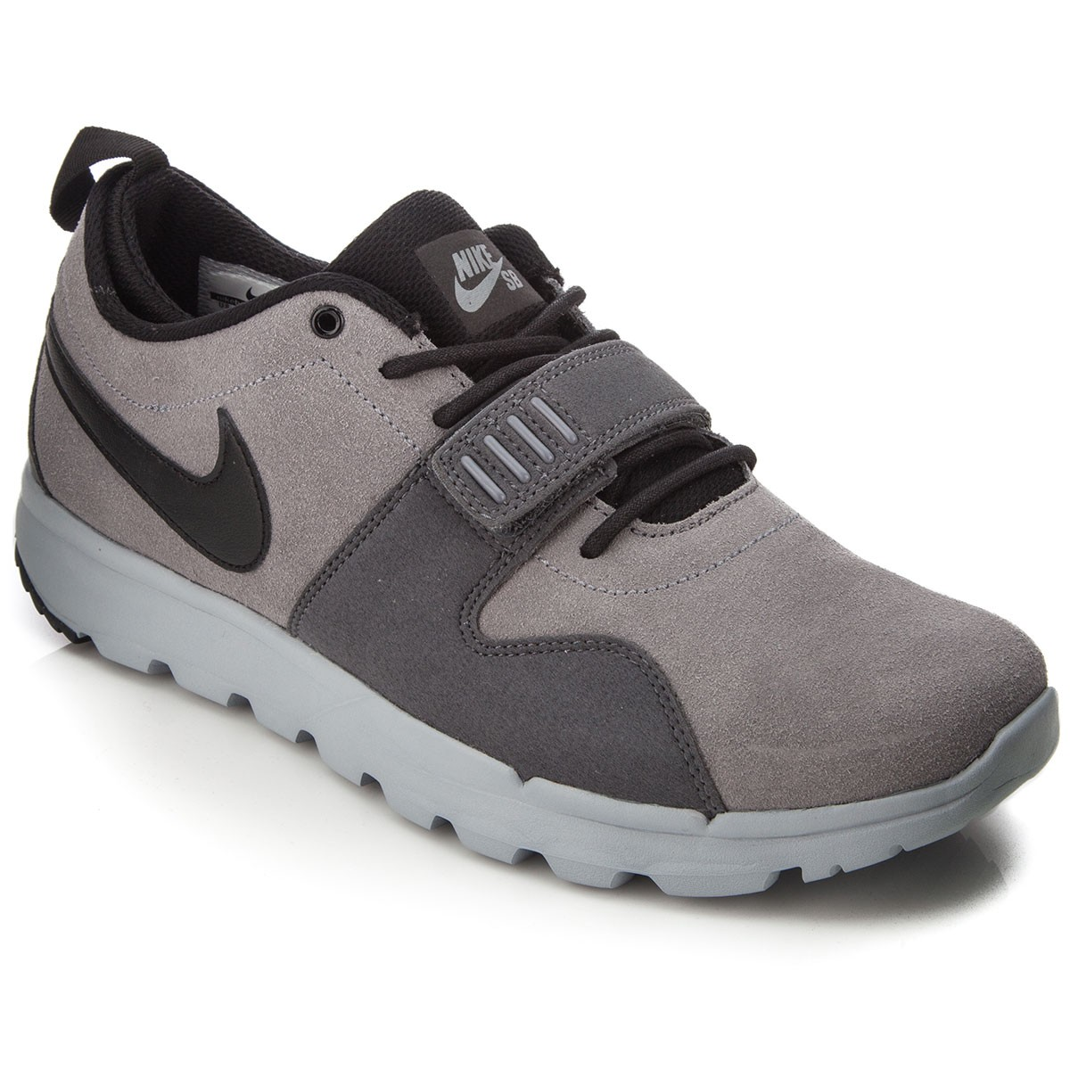 finest selection c0a36 afd47 Nike SB Trainerendor L Shoes - Cool Grey Wolf Grey Black - 6.0