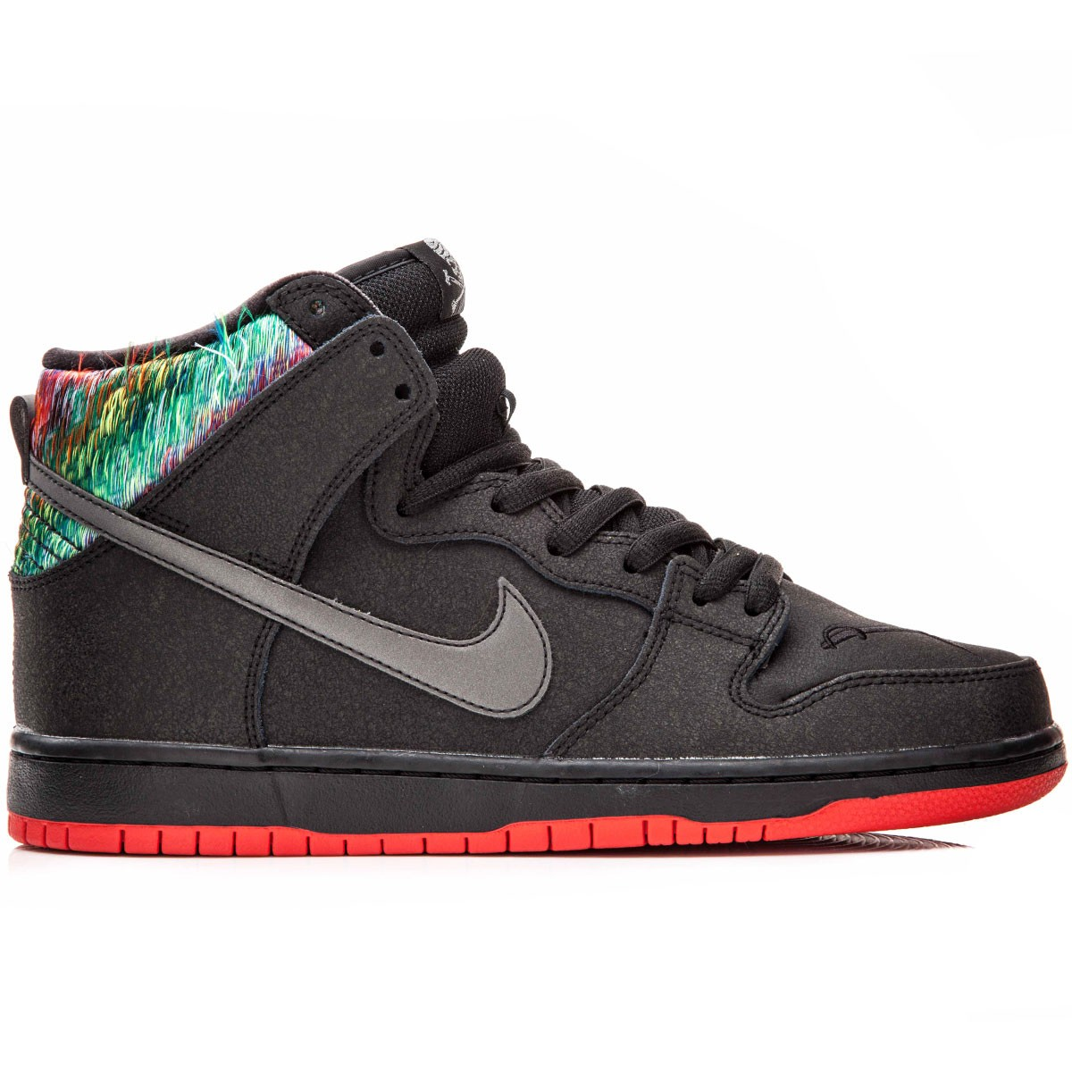 brand new d5367 f72a9 Nike SB X SPoT Dunk High Gasparilla Premium Shoes - Black Red Metallic  Silver