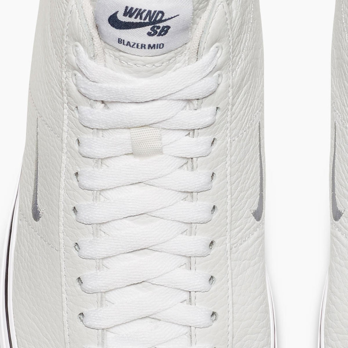 d2550ff60b48 Nike SB X WKND Zoom Blazer Mid QS Shoes - White White Midnight Navy