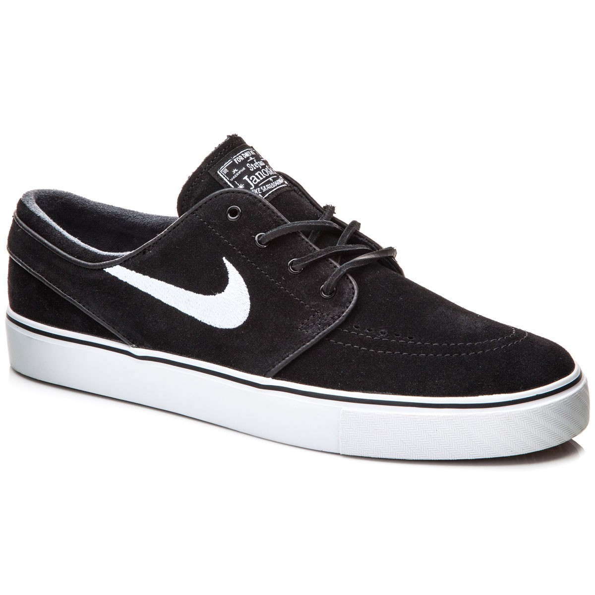 The Nike SB Air Zoom Stefan Janoski Leather Shoes are just as great as the name implies, they're leather Janoskis. The streamlined leather upper provides low-profile durability, while the carefully placed perforations on the vamp provide breathability.