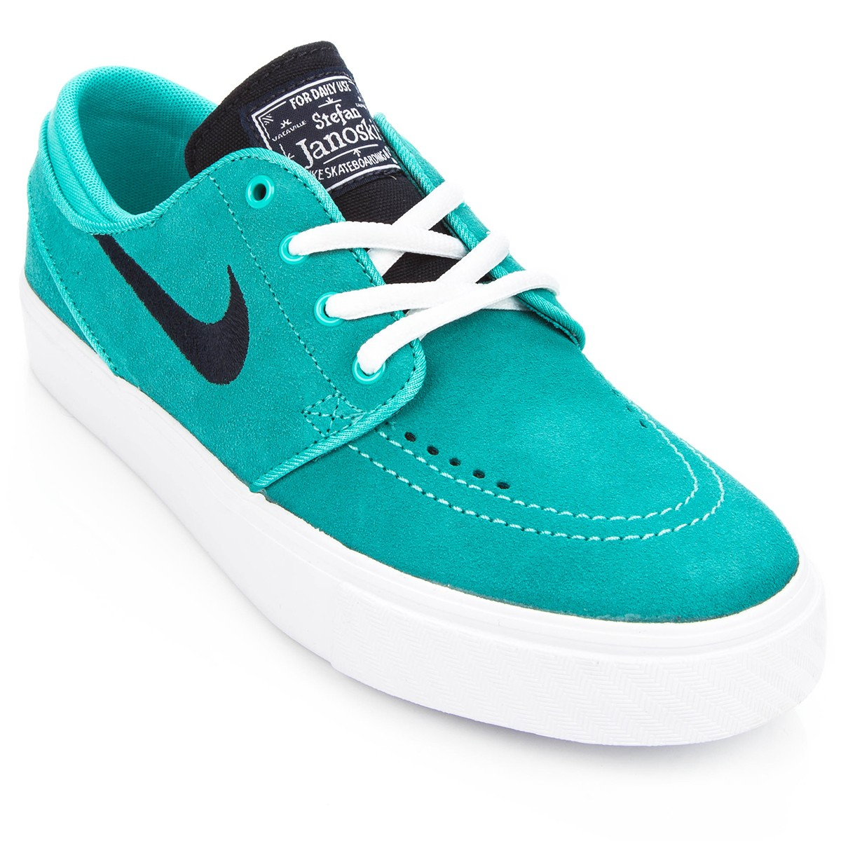 Nike Stefan Janoski Big Kid Shoes - Lt Retro/Dk Obsidian/White - 5.0