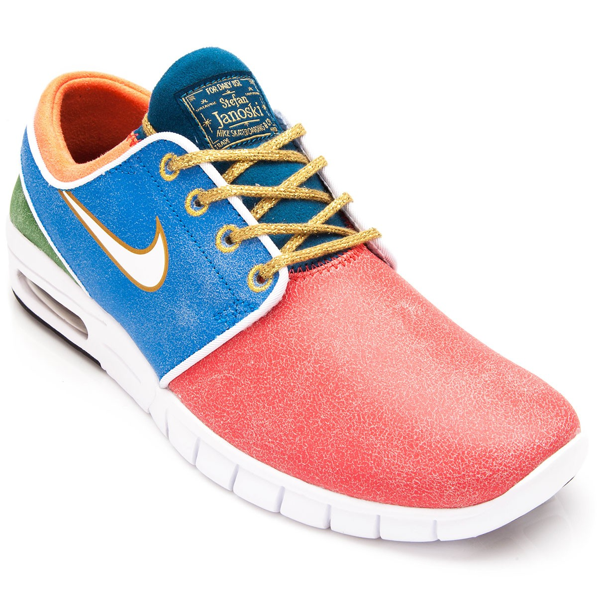 finest selection c1e73 f96bd ... coupon code for nike stefan janoski max l qs shoes rio blue green white  10.0 fd989