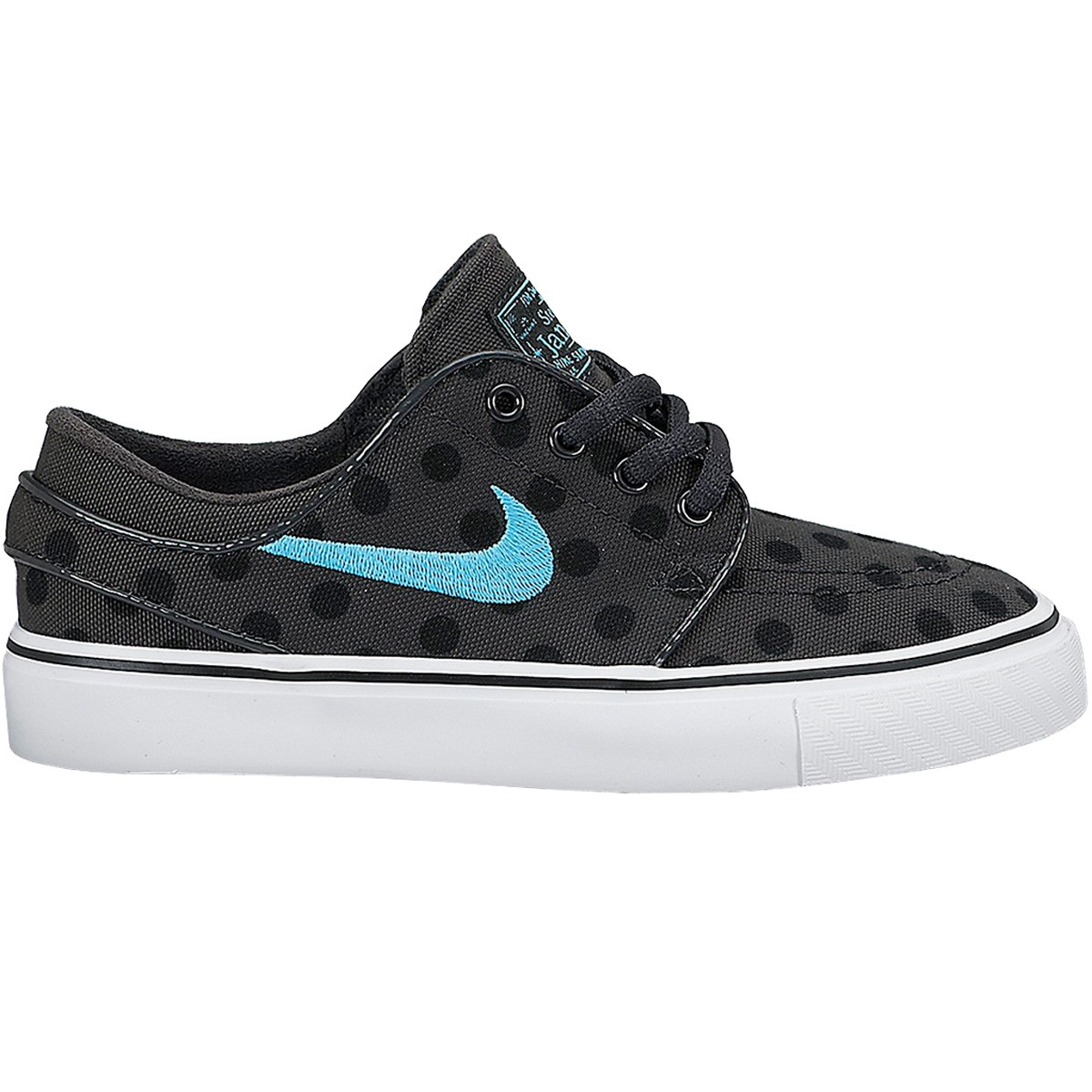 Nike Stefan Janoski Prem Canvas Big Kid Shoes - Anthracite/Black/Clearwater - 5.0