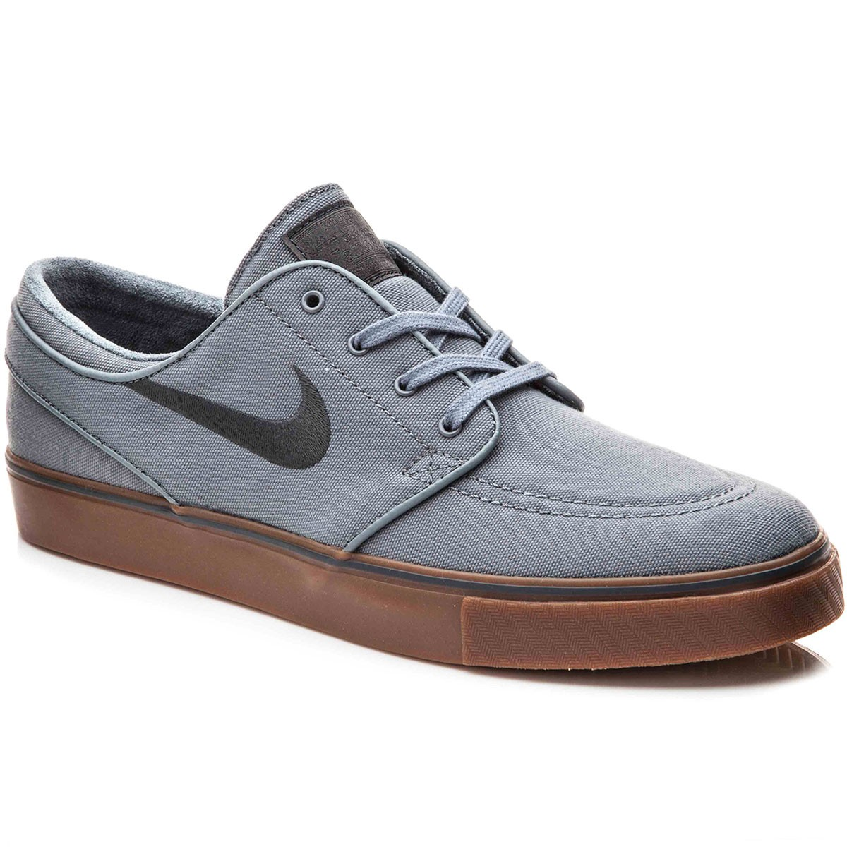 Nike Zoom Stefan Janoski Canvas Shoes - Cool Grey/Black/Gum/Anthracite - 10.0
